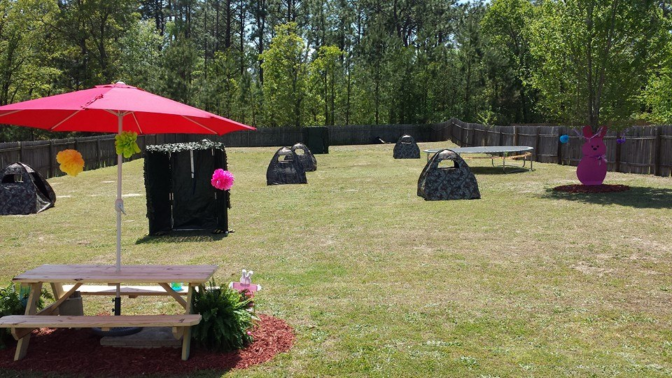 ... Laser Tag Field Set Up ...